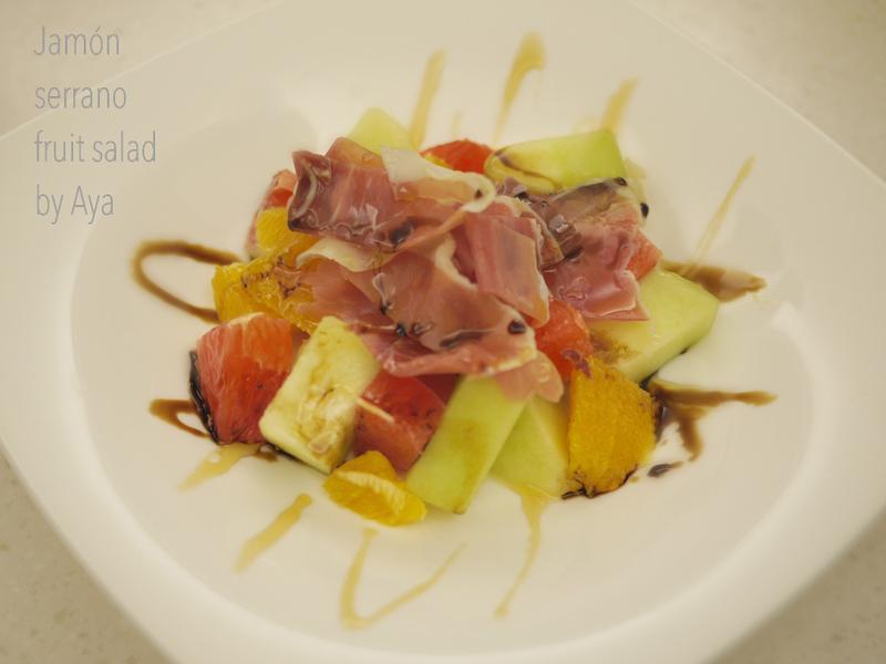 西班牙山火腿水果沙拉