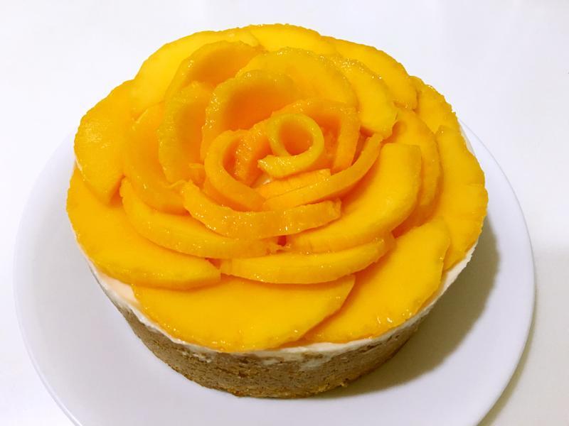 芒果優格生乳酪蛋糕(免烤)