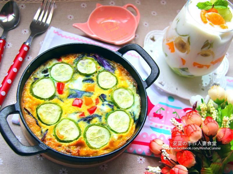 西班牙蔬菜烘蛋+水果優格