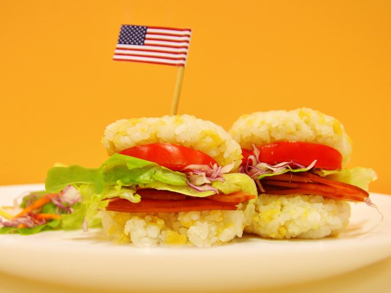 洋芋米漢堡【樂事盒裝雞汁洋芋片】