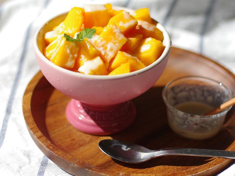 饗瘦美味-芒果煉乳挫冰