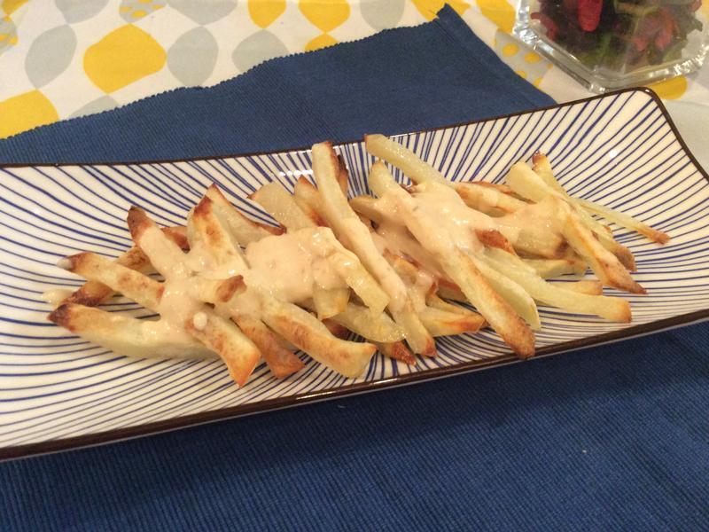 烤箱薯條佐起司芝麻醬_健康廚房