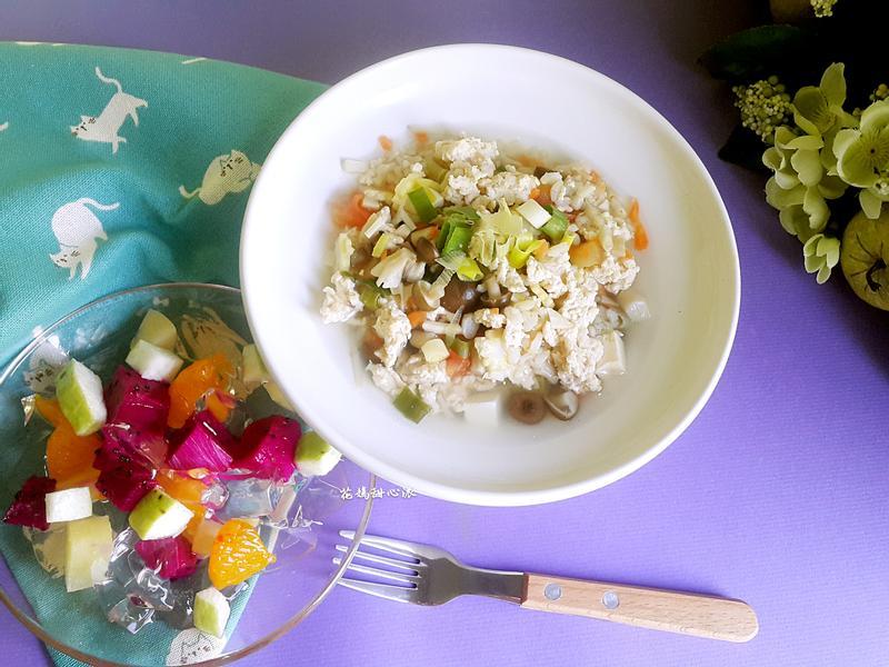 什錦菇菇雞茸粥