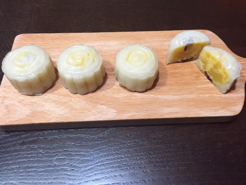蔓越莓綠豆餡冰皮月餅(零失敗大同電鍋版)