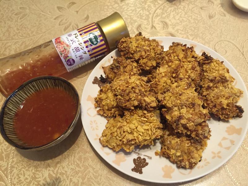 玉米脆片雞佐泰式甜辣醬【健康廚房】