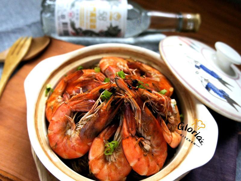 鮮蝦粉絲煲(58度金門高粱酒)
