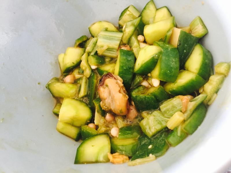 哇沙米拌黃瓜秋葵