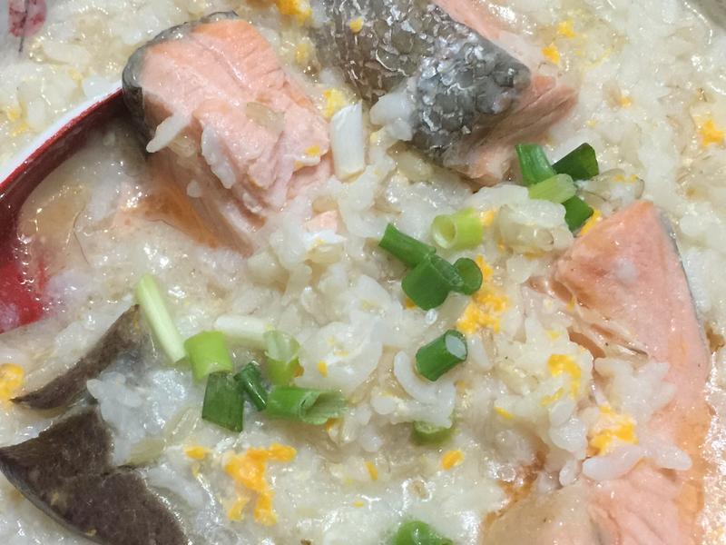 鮭魚豬肝稀飯