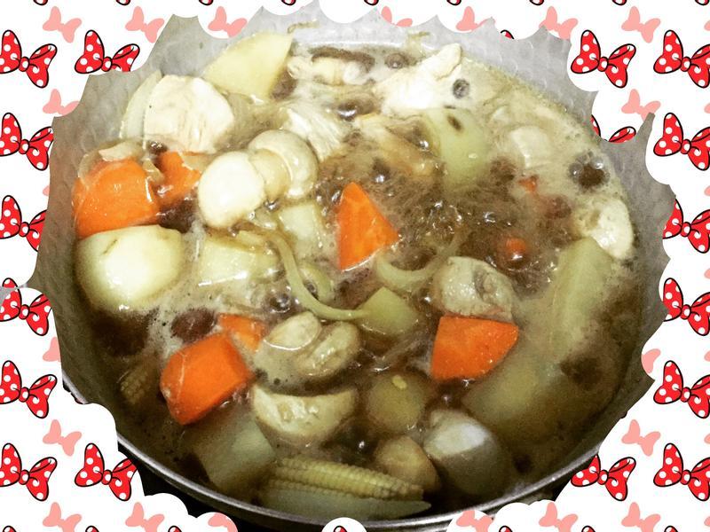 馬鈴薯燉雞肉(一人份)