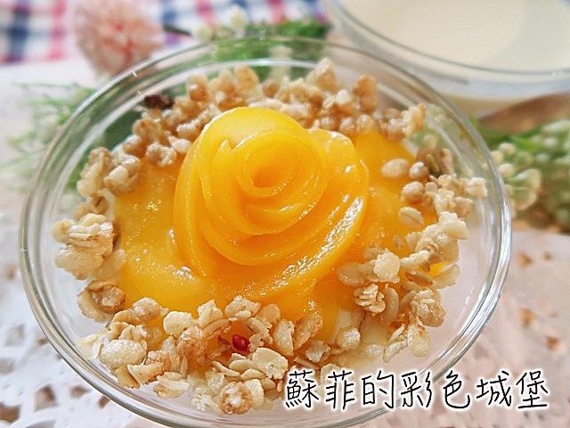 水蜜桃麥片杏仁奶酪