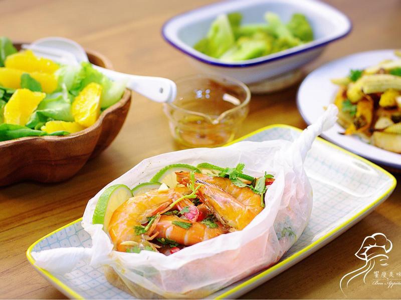 饗瘦美味-水波爐 鹽之花佐綠花椰