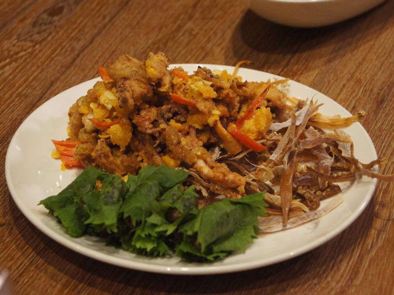 金沙魷魚襯紫蘇果乾豆沙