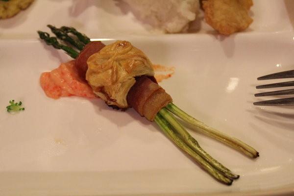 生火腿烤蘆筍