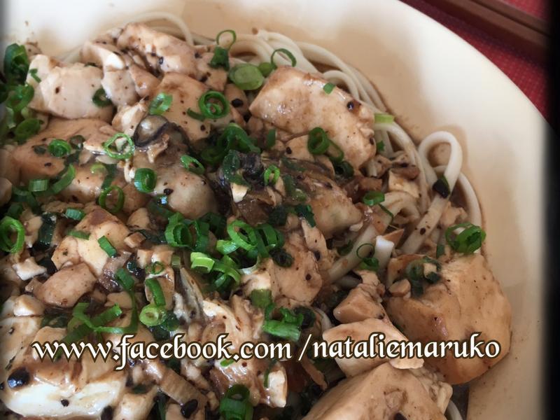 麻油豆豉鮮蚵豆腐拌麵