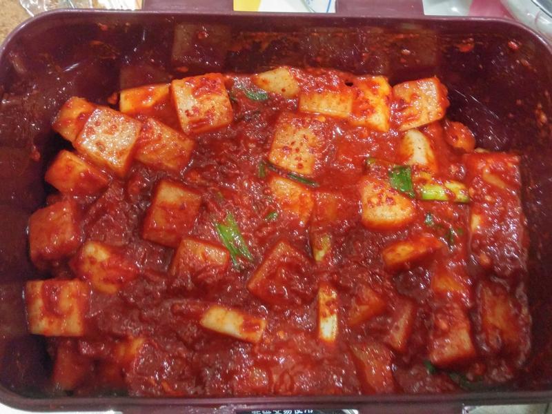 韓式小菜-辣蘿蔔(깍두기)