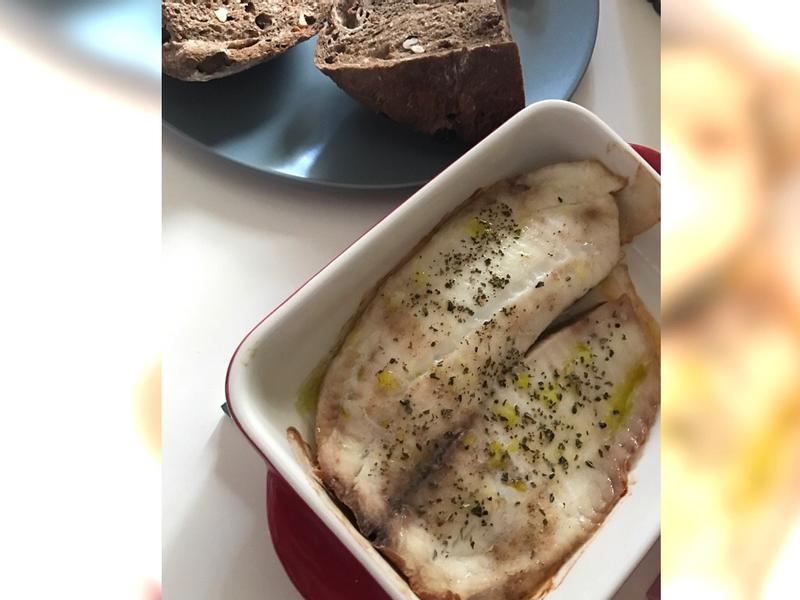 輕食-義式烤蘑菇鯛魚