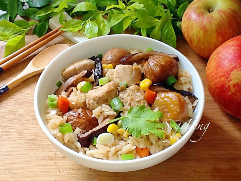 栗子雞肉炊飯(電鍋版)