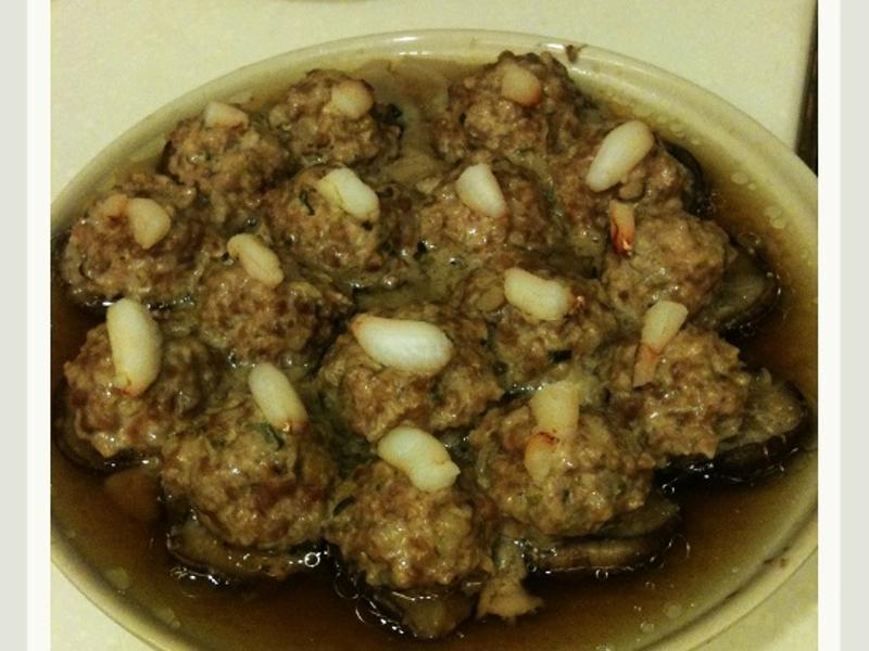 香菇鑲肉蟹肉塔
