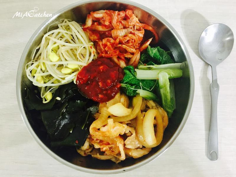 *韓式*泡菜豬肉拌飯 비빔밥