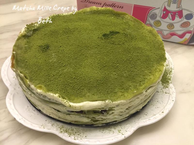 抹茶紅豆千層蛋糕 - 免烤箱