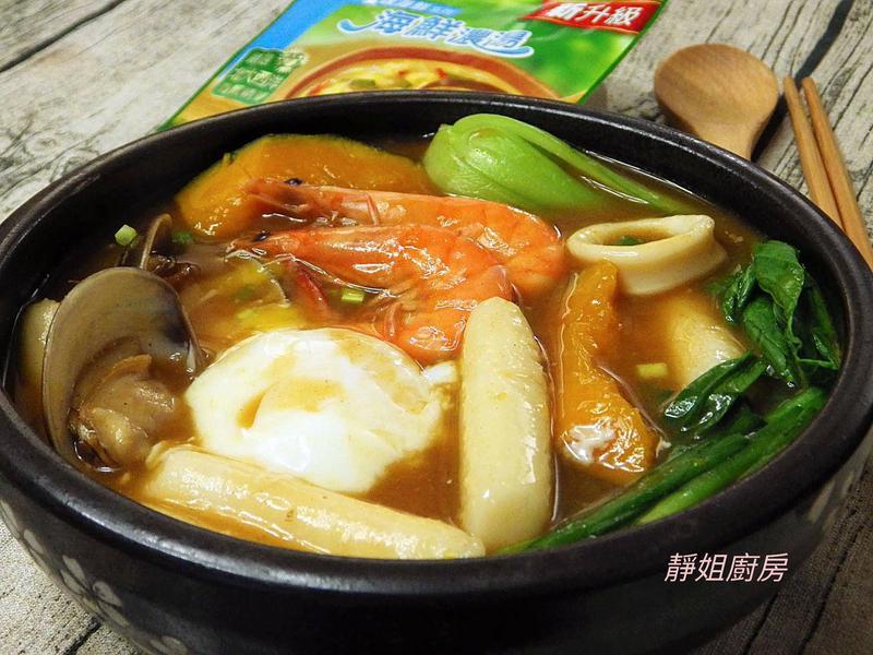 辣味海鮮年糕湯