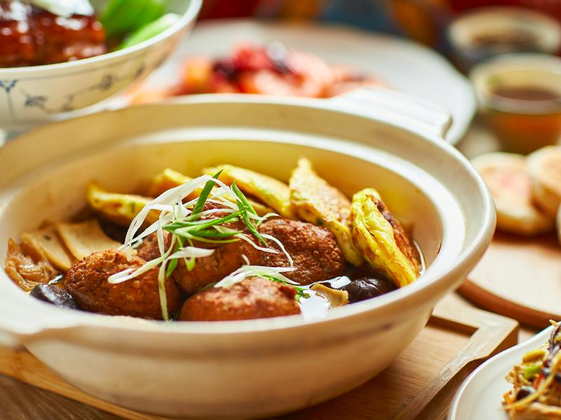 白菜豆腐獅子頭鍋