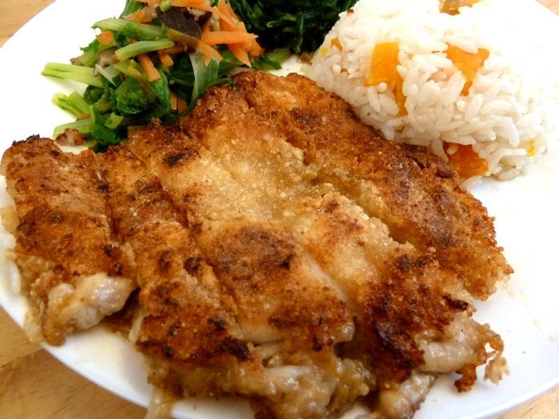 《永新沙拉》台式雞排~免油炸免烤箱