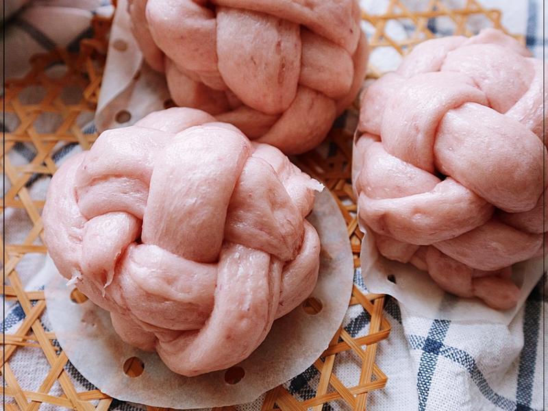 紫薯紐紋饅頭