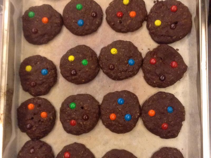 燕麥M&M巧克力餅乾