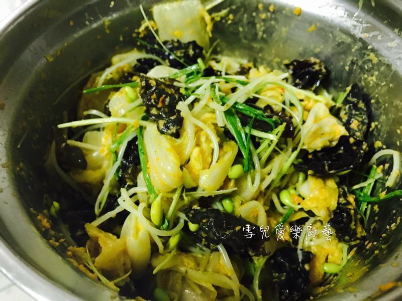 泡菜涼拌黃豆芽黑木耳