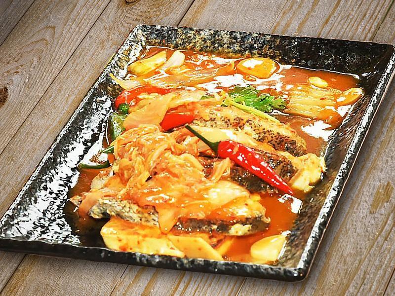泡菜豆腐燒石斑