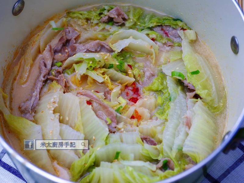 大白菜豚肉豆乳鍋