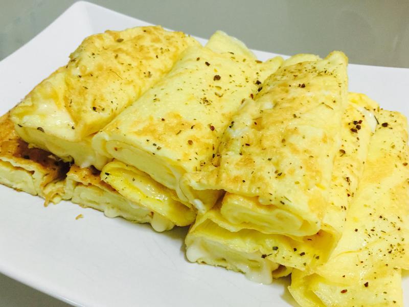 懶人料理:牽絲起司蛋捲燒