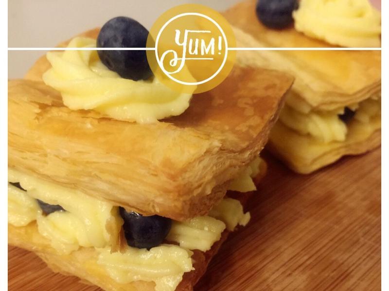 小烤箱就能做-簡易藍莓千層酥