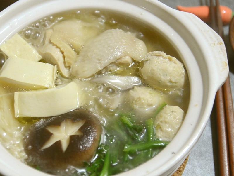 日式火鍋料 用果汁機做 雞腿肉丸子
