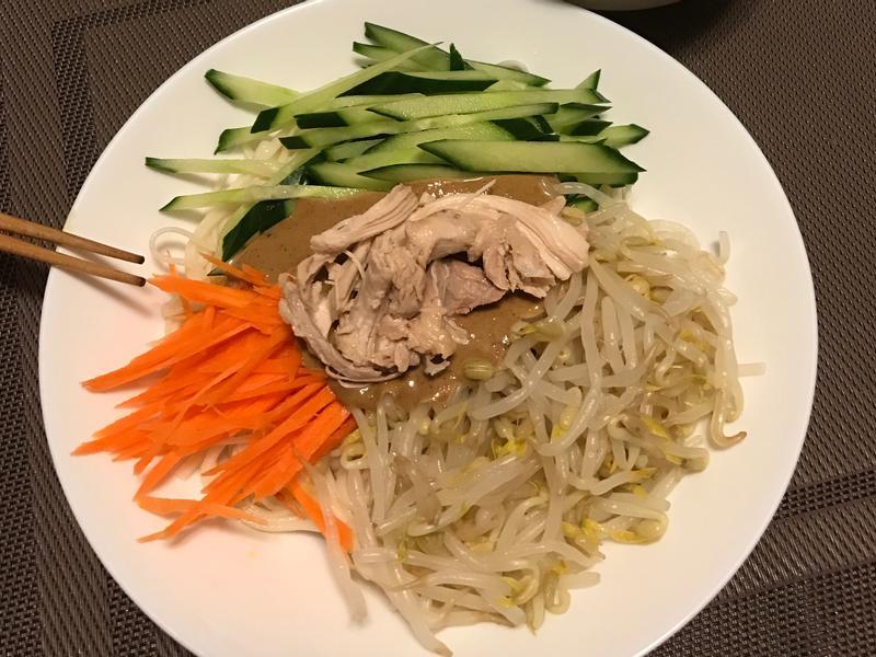 麻醬涼麵(簡易&多蔬菜版)