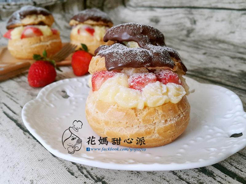 巧克力草莓泡芙
