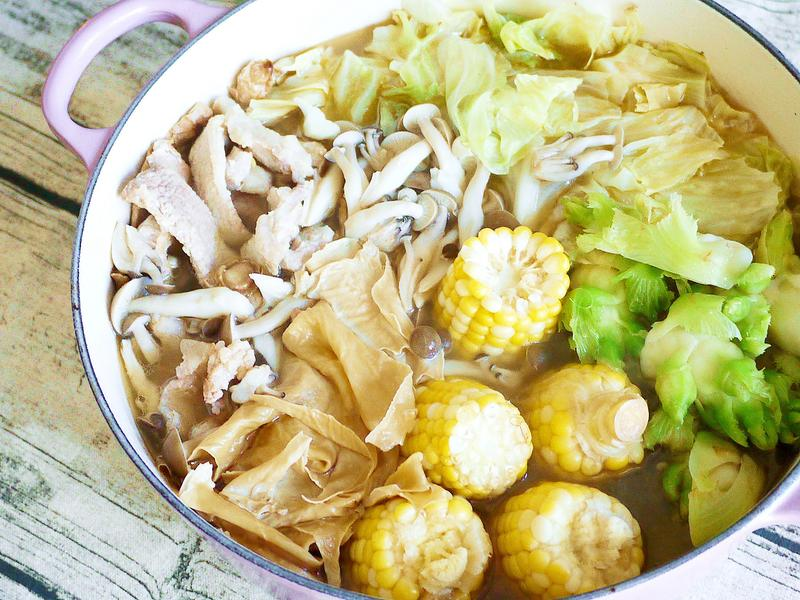 麻油松阪豬鍋