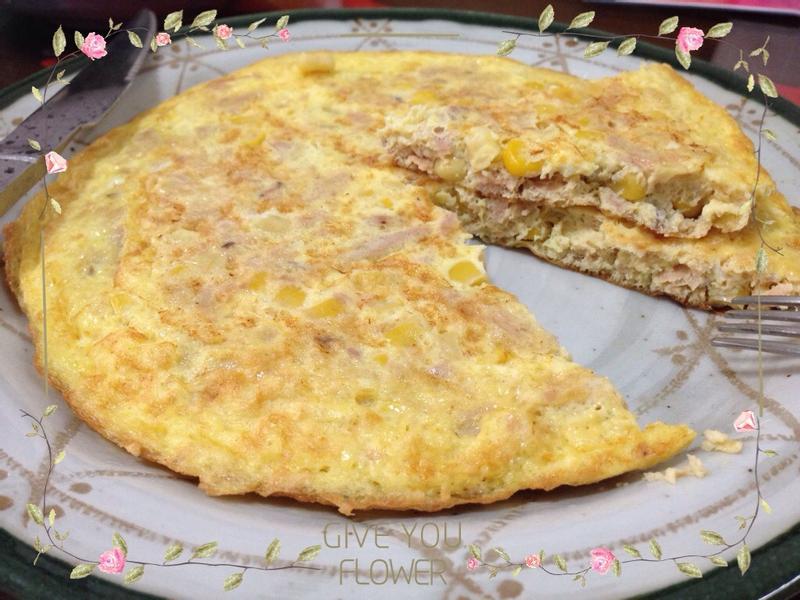 鮪魚玉米煎蛋