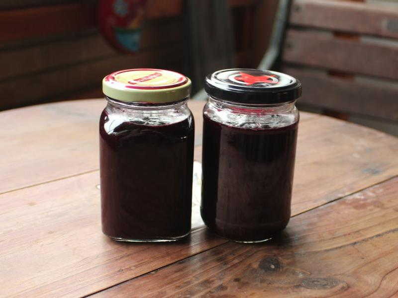 藍莓醬製作