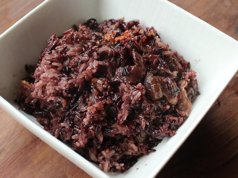 麻油桂圓紫米飯