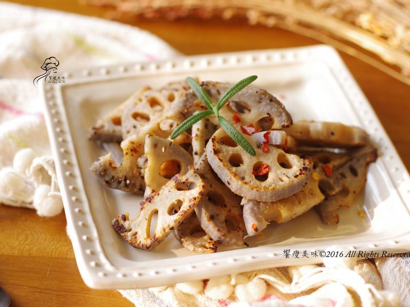 饗瘦美味-海鹽佐辣粉香煎藕片