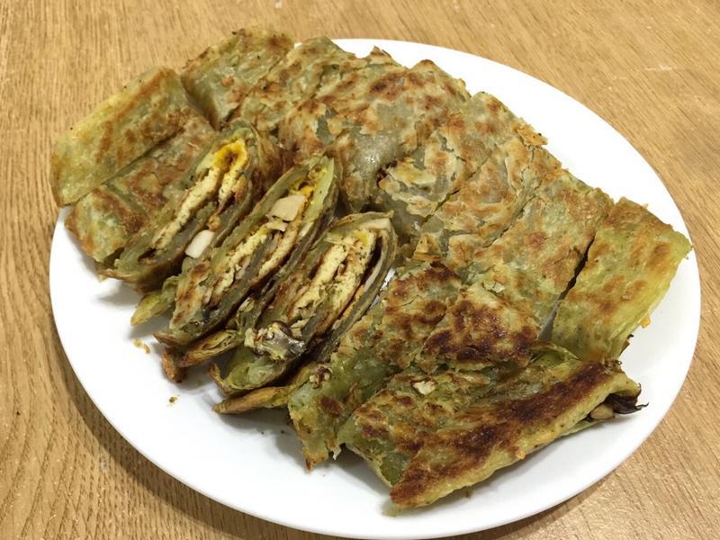 素食㊣香椿抓餅豪華版