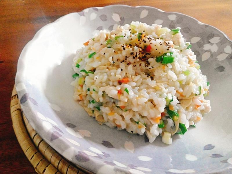 豆皮雞蓉燉飯一超簡單,一鍋完成