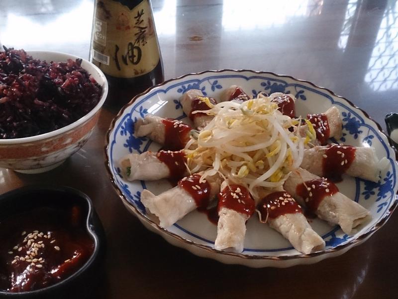 煎香蔥豬肉佐韓式醬【福壽純芝麻油玩料理】