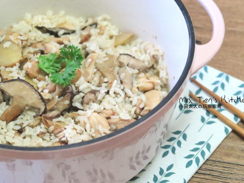 麻油雞飯 鑄鐵鍋料理一鍋搞定