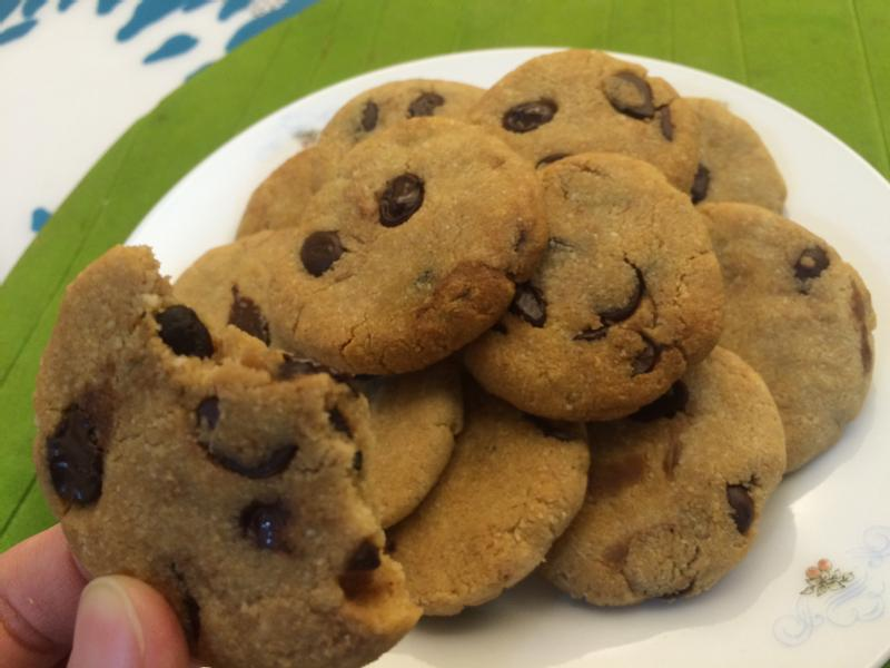 [低醣飲食]無麵粉烘培-可可豆餅乾