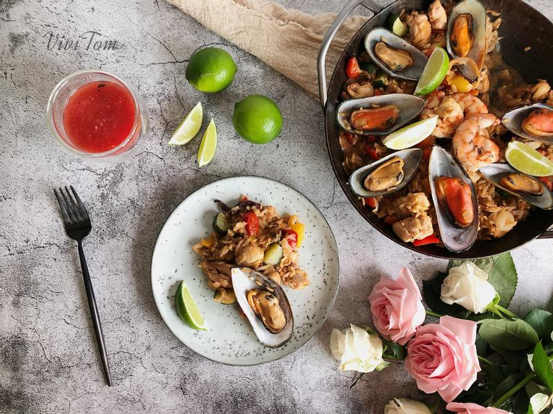 一鍋料理:西班牙海鮮飯 Paella