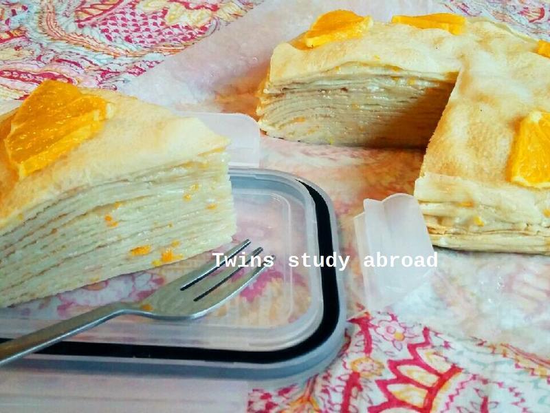 香橙千層蛋糕