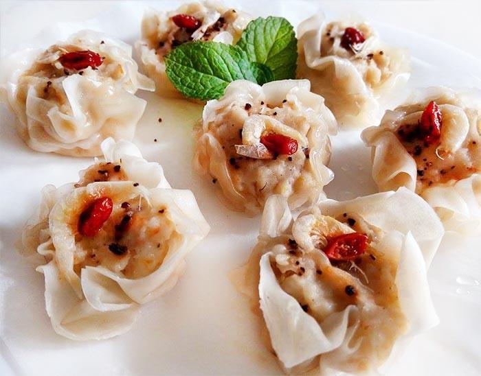 海鮮燒賣&蝦餅(1種餡+餛飩皮變2料理)